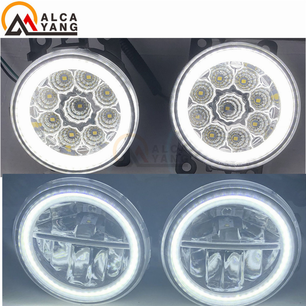 Angel Eyes Fog Lamp Assembly Super Bright For <font><b>Renault</b></font> TWINGO GRAND SCENIC MASTER TRAFIC LOGAN Laguna <font><b>DUSTER</b></font> Kangoo LATITUDE 98- image
