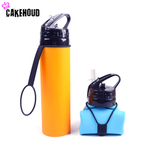 CAKEHOUD 610ML Creative Collapsible Foldable Silicone Drink Sport Water Bottle Camping Travel Outdoors Bicycle Kettle