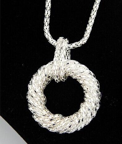 Fashion Kalung Panjang untuk Wanita Big Circle Emas / Perak Warna - Perhiasan fashion - Foto 3