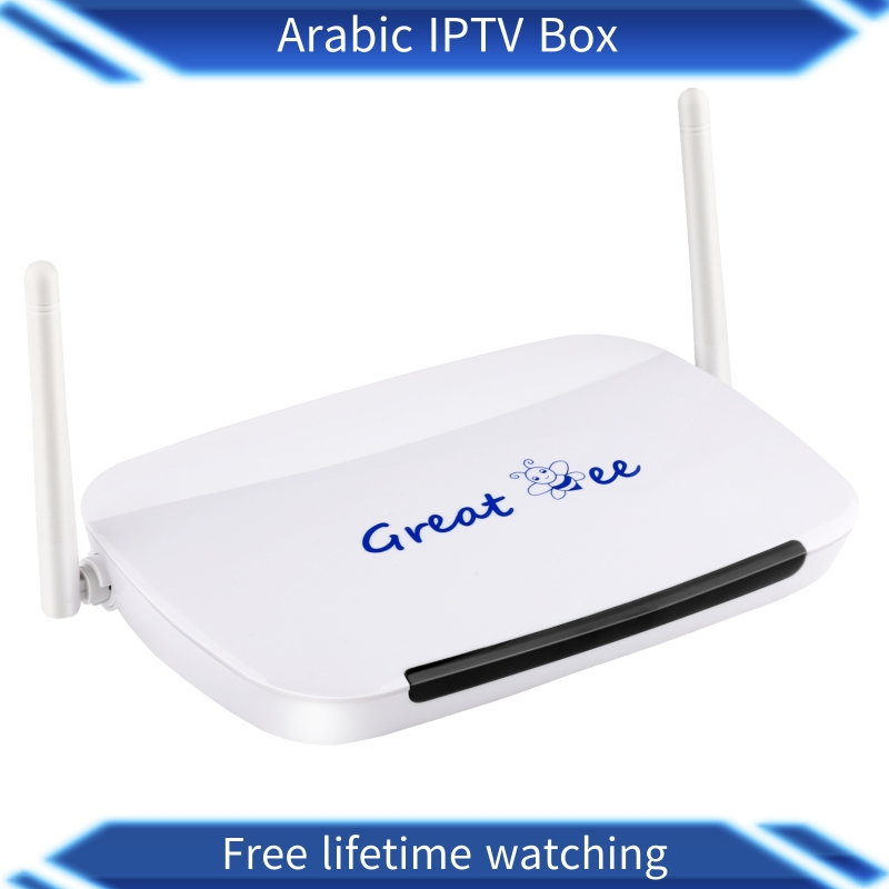 Great ee 2018 google hot research great bee arabic iptv box with lastest movie box