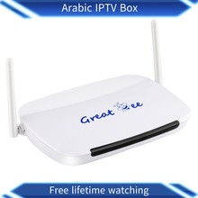 Great ee 2018 google hot research great bee arabic iptv box with lastest movie box(China)