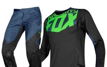 NEW 2019 NAUGHTY Fox MX Racing Mens Black/Blue/Green 360 Pro Circuit Dirt Bike Jersey & Pants Kit  MX/ATV Dirt Bike