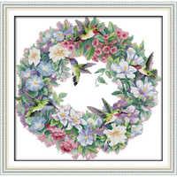 Wieczna miłość boże narodzenie sztuka kolibrów (2) chiński krzyż zestaw do szycia ekologiczna bawełna 11CT nowy sklep promocja sprzedaży