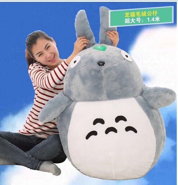 Énorme Totoro peluche jouet nouvel oreiller en peluche cadeau d'anniversaire grand style classique environ 130 cm