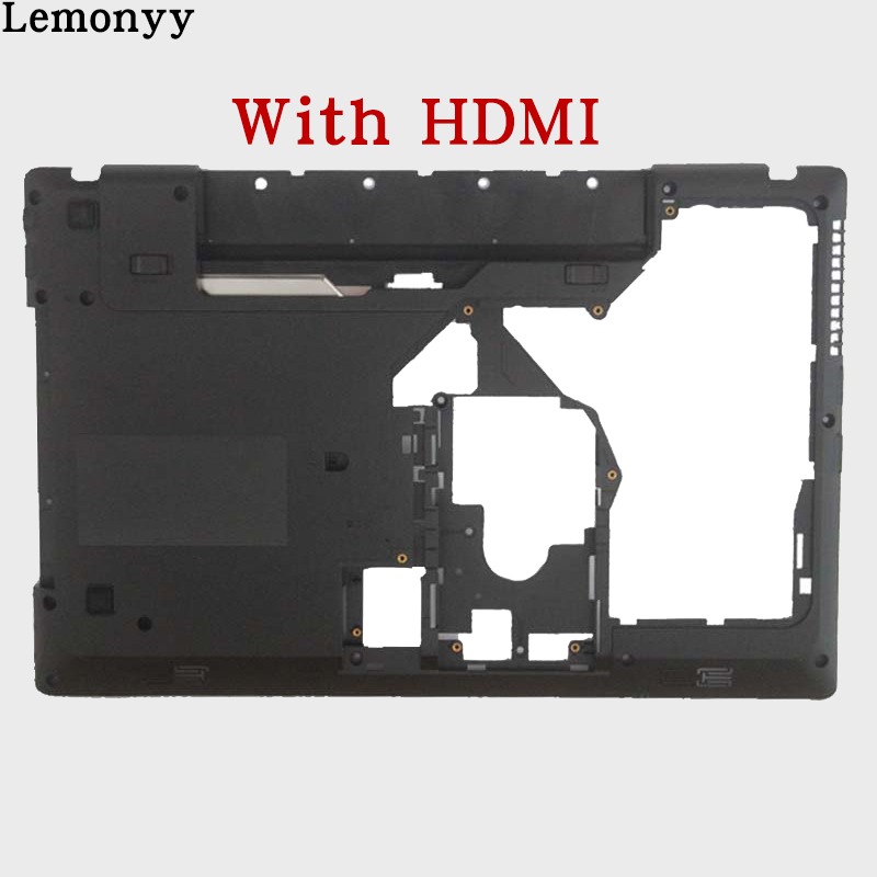 New Laptop Bottom Cover For Lenovo G570 G575 Bottom Case Base Black with HDMI Combo new for lenovo g570 g575 series palmrest case