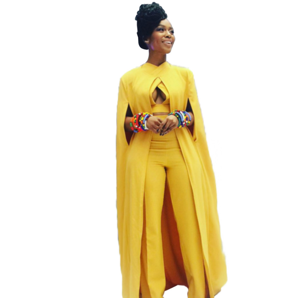Online Shop Fashion Sexy Women Sheer Yellow Three 3 Piece Set ...