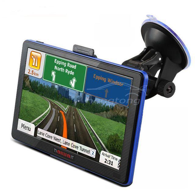"""Hot 7 """"tela Capacitiva de Navegação GPS Do Carro DH DDR/800 MHZ Caminhão veículo vista Traseira Do Bluetooth FM AV Sat Nav Navitel/Europa"""