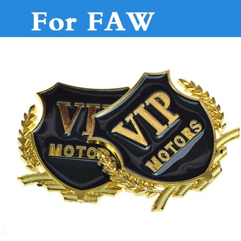 d3174f8e5 2017 Metal sólido VIP etiqueta engomada del coche de etiquetado Sidehead  decorativo para FAW Besturn B50 Besturn B70 Besturn X80 Jinn Oley V2 v5 Vita