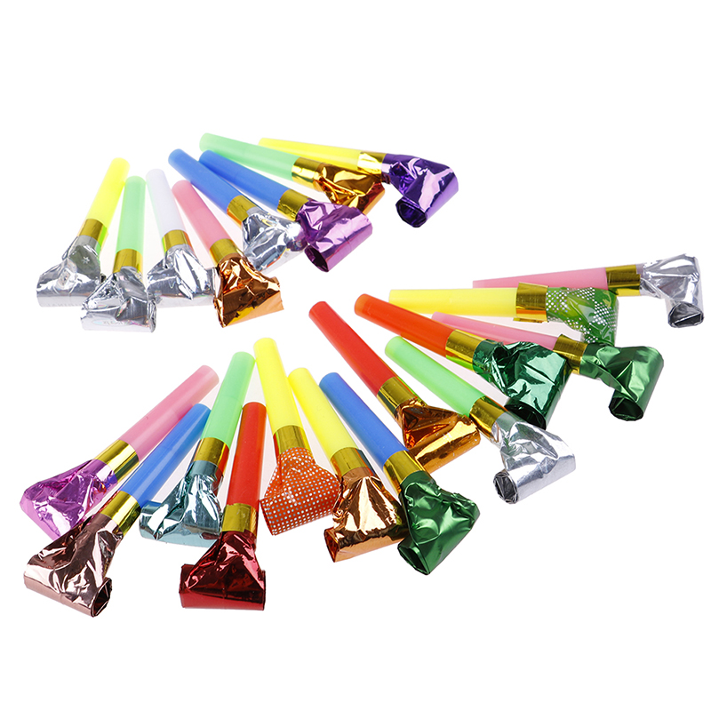 5/10pcs Hot Party Toys Hat Baby Toy 0-12 Months Plastic Small Blow Dragon Whistle Cheer Leading Birthday Party Toys For Children