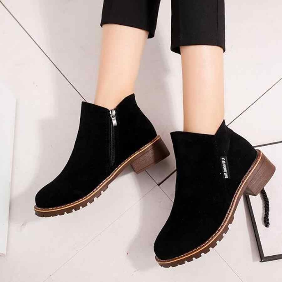 Dwayne 2018 Yeni Sonbahar Kış Kadın Çizmeler Süet Kadın Tek Çizmeler kadın yarım çizmeler Düz Oxford ayakkabı zapatos mujer boyutu 35 -40