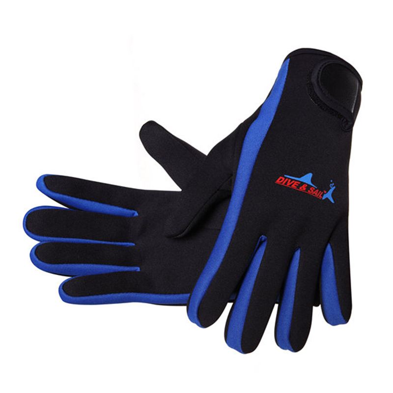 DIVE&SAIL 1.5mm  Swimming Diving Neoprene Glove With Magic Stick Anti-Slip Gloves Keep Warm For Winter Diving
