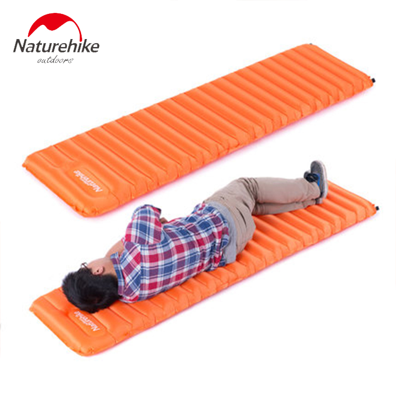 Naturehike Hand Press Inflating Sleeping Pad Ultralight Breathable Damp-proof Air Mattress Outdoor Tent Camping Mat наматрасники esspero непромокаемый наматрасник damp proof lux