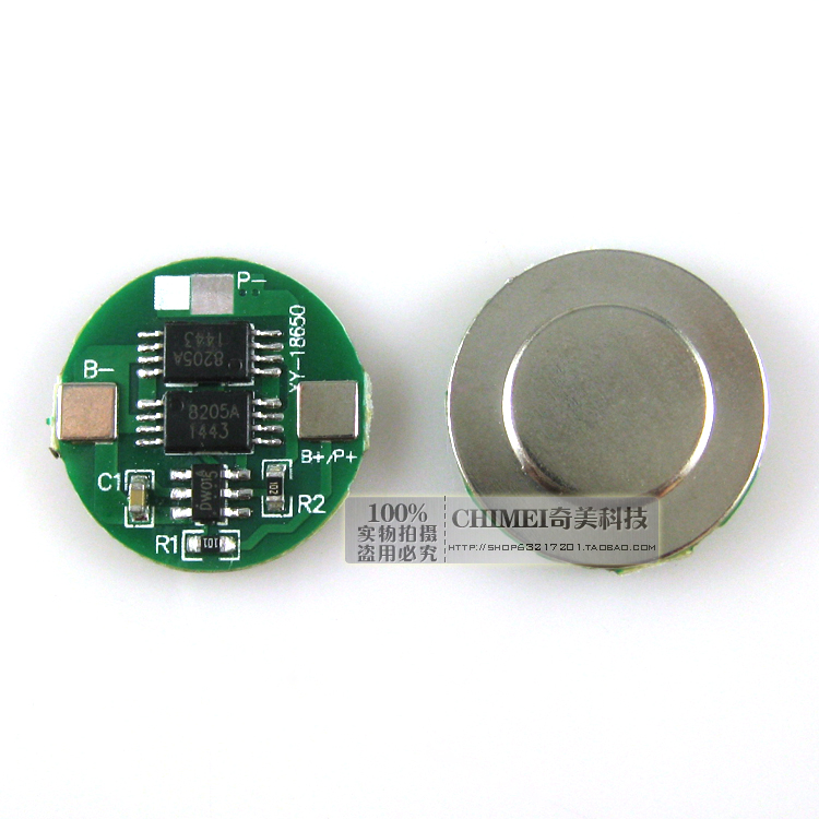 18650 Lithium Battery Charge And Discharge Protection Board 4.2V Battery Dual Dual MOS Protection Board Parts