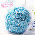 2017 Hot Sale Free Shipping Wedding Bouquet 6 Colors 18 Handmade DIY Roses Bouquets De Noiva Wedding Flowers Bridal Bouquets