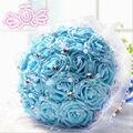 2017 La Venta Caliente Del Envío Libre Wedding Bouquet 6 Colores 18 Hecho A Mano DIY Rosas Ramos De Noiva Boda Flores Ramos de Novia