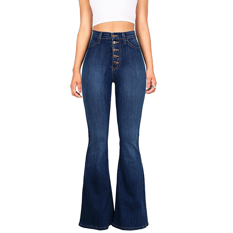 Jeans Casual Maxi Waist Cotton Summer Size Women 2019 Boyfriend Jeans Flare High Loose Denim Long Fall Streetwear Slim Pants