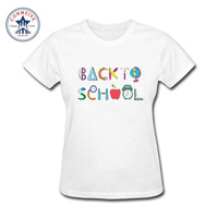 2017 Teenage Youth Funny Back To School Cotton Funny T Shirt Women