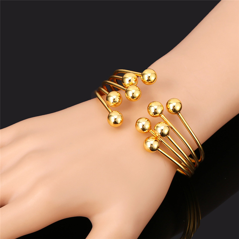 Bracelets Bangles Unique Design Fashion Jewelry Gold Color