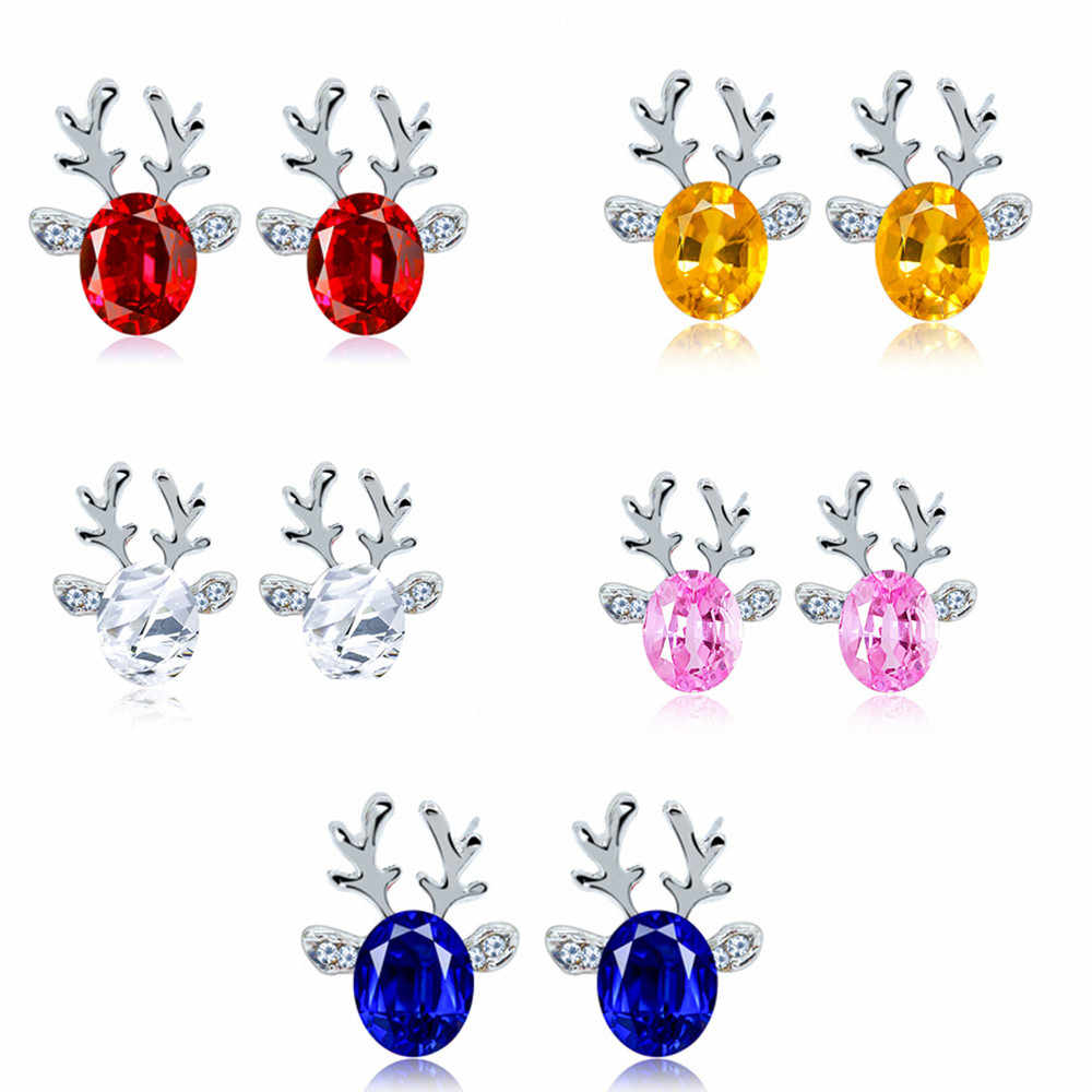 Tooayk earrings Crystal Earrings luxury three dimensional Christmas reindeer earing jewelry party earings kolczyki orecchini P#