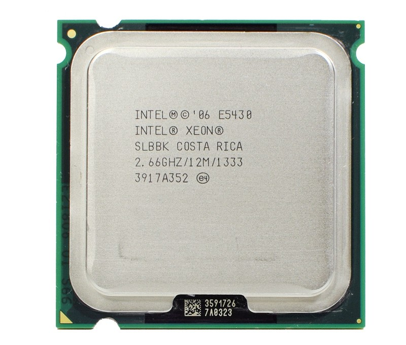 Intel Xeon E5430 slanu slbbk Processor 2.66 ГГц 12 м 1333 мГц Процессор работает на LGA775 материнская плата