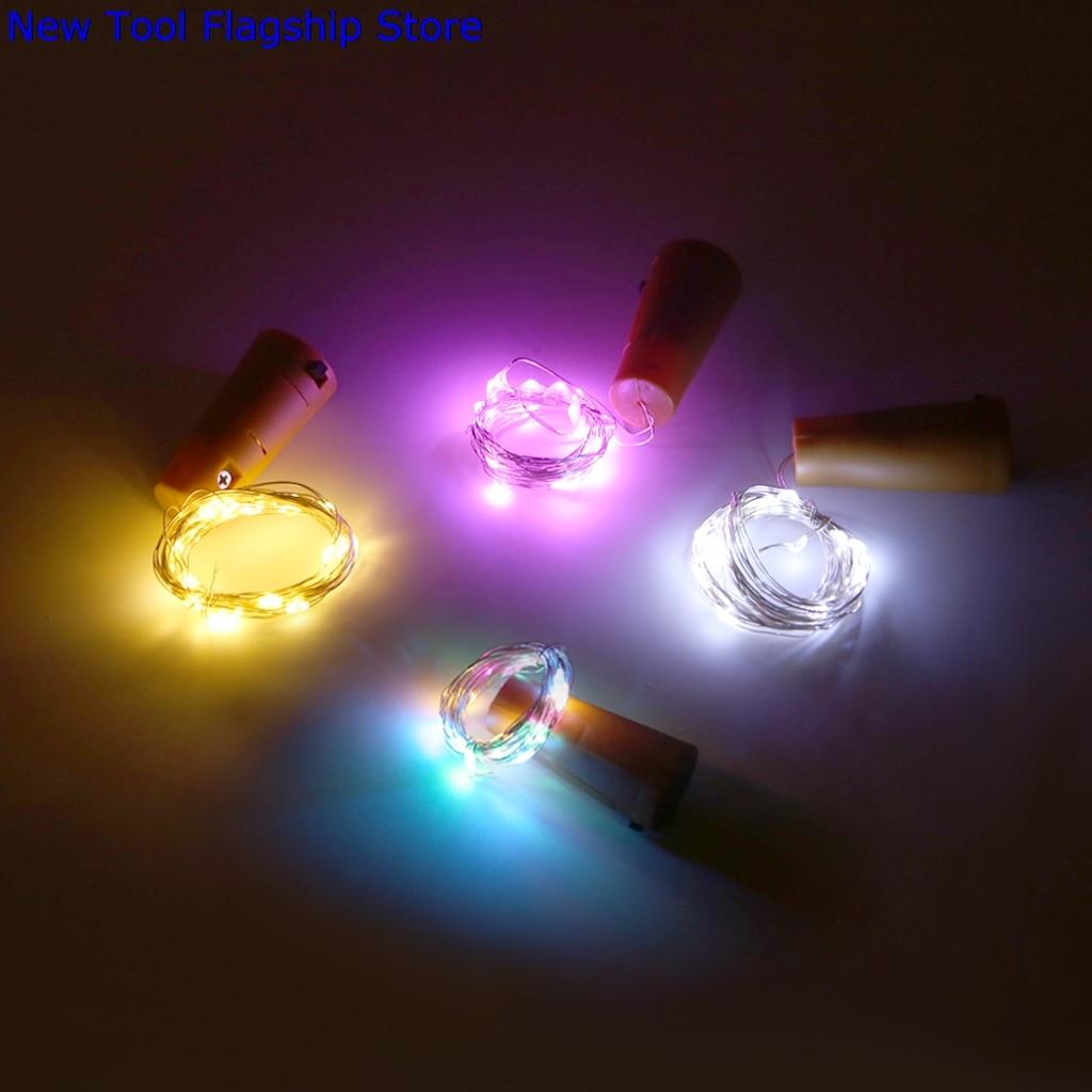 20 LED Cork Shape String Bottle Lights Battery Powered Fairy Party Christmas Weddinghome or garden decoration 2018 New