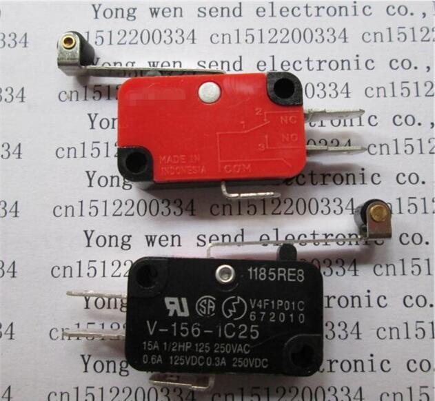 HOT NEW  ball bearing type rocker  Mro screw Travel switch Limit switch V-156-1C25 15A 250VAC [vk] 4tp66 10 switch rocker 4pdt 15a 125v switch