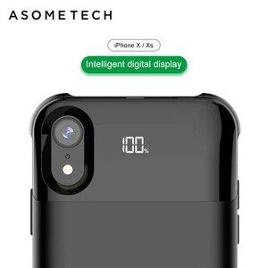 Image 1 - Bateria de carregamento sem fio de 5500mah, bateria de carregamento wireless separada para iphone xxs xr xs max de adsorção, banco de energia magnético