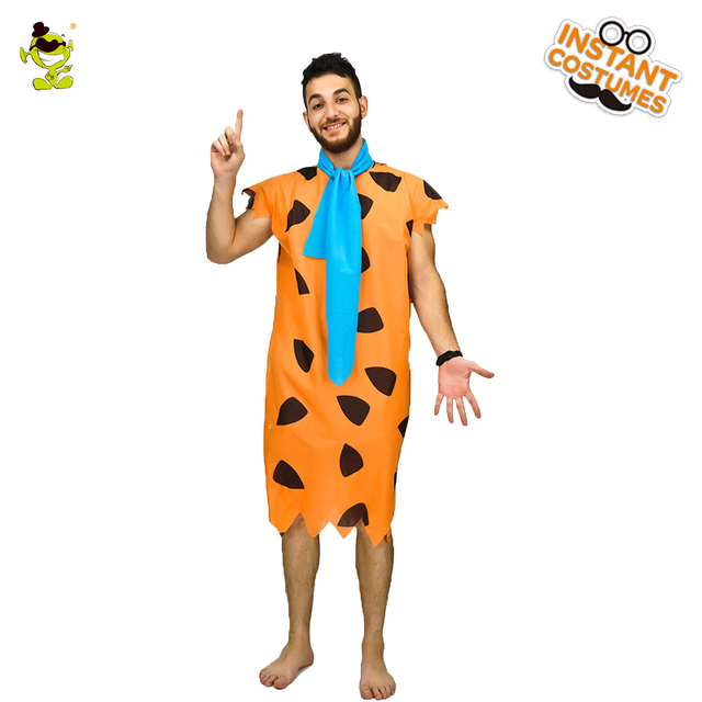 New Jungle Caveman Cosplay Carnival Costumes Stone Age The Croods Fred Flintstone Primitive Man Wildman Halloween Costume