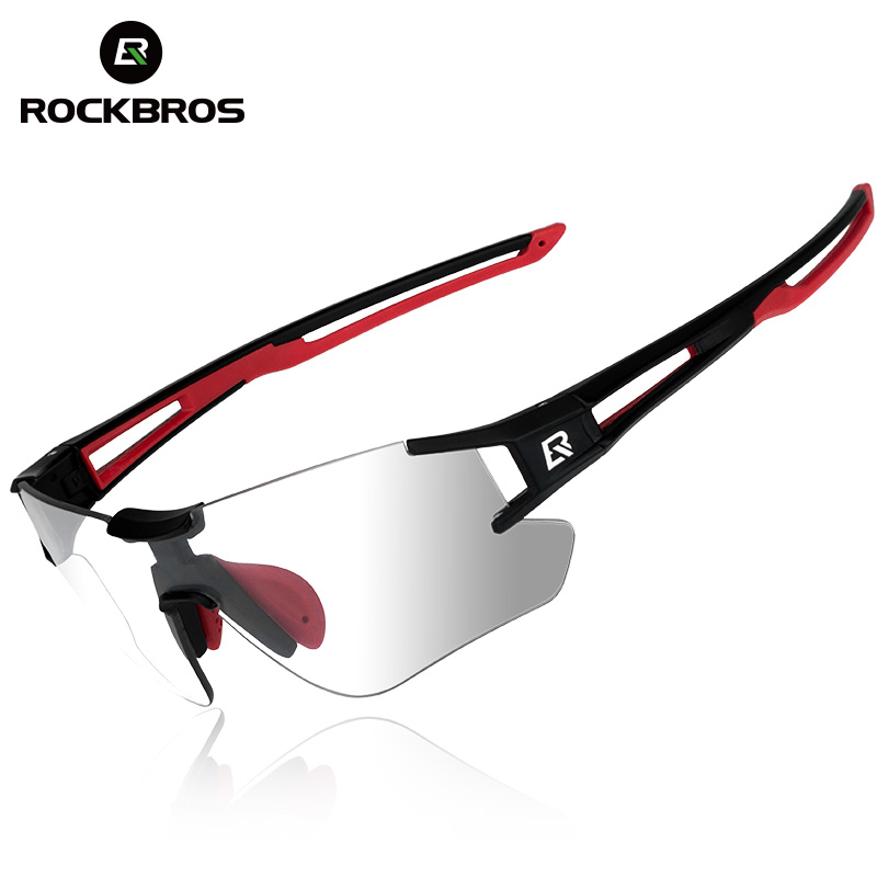 ROCKBROS Photochromic Cycling Bike Bicycle Glasses Sports Men's Sunglasses MTB Bike Bicycle Eyewear Equipment Protection Goggles rockbros polarized photochromic cycling glasses bike glasses outdoor sports bicycle sunglasses goggles eyewear with myopia frame
