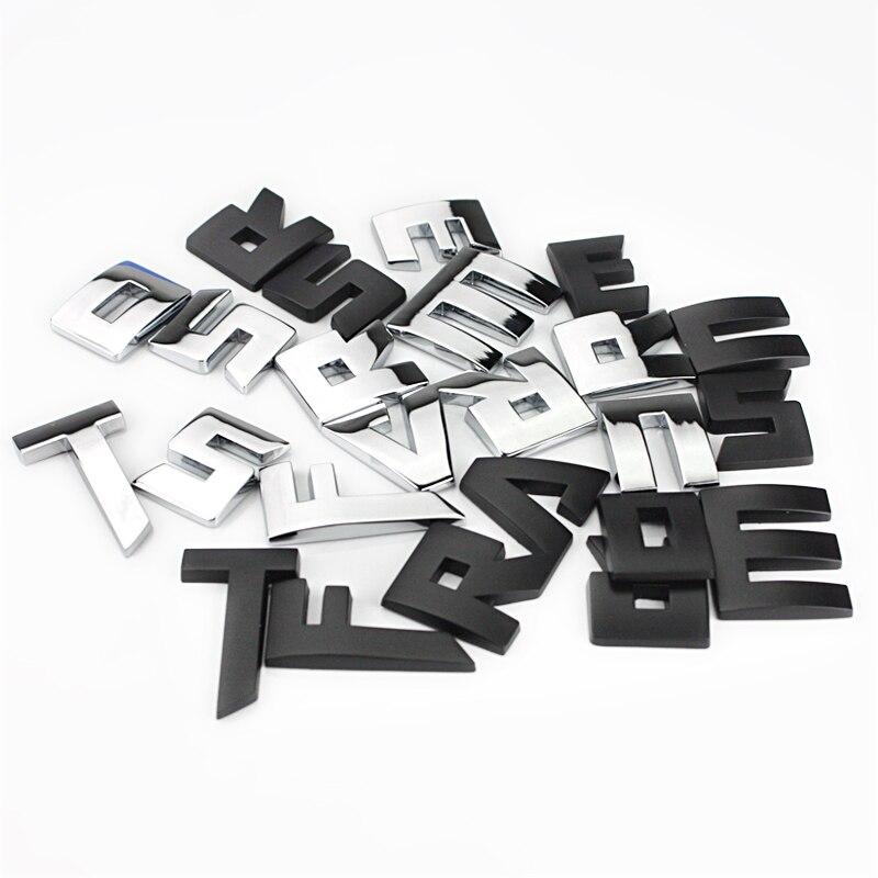 Отдельные буквы Chrome металлический сплав цинка эмблема логотип Средства ухода за кожей боковой двери гирлянды Стикеры Универсальный Одежда...