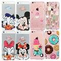 Case de helado en la impresión para apple iphone 5 5s 6 6 s 7 casos lujo 3d macaron estilo de dibujos animados cubierta transparente Coque