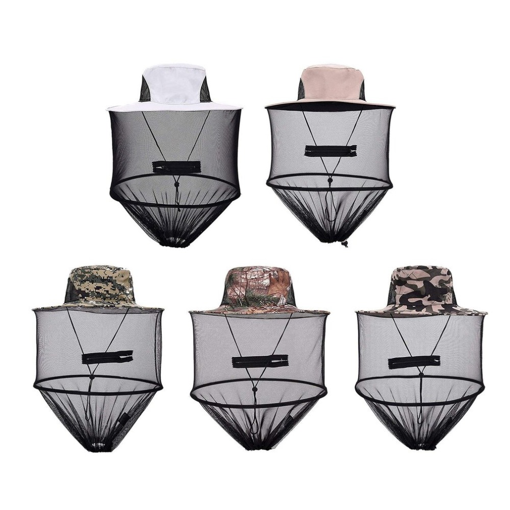 Home & Garden Initiative Top Midge Insect Mosquito Cap Unisex Knit Bucket Hat Net Head Shield Net Fishing Camping Wild Jungle Facial Mask Protect Cap Latest Technology Pest Control