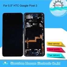 """5.5 """"Original Amoled M & Sen Per HTC Google Pixel 3 Display LCD Cornice Dello Schermo + Touch Screen Digitizer per HTC Google Pixel 3 Display"""