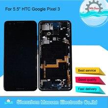 """5.5 """"oryginalny Amoled M & Sen dla HTC Google Pixel 3 wyświetlacz LCD ramka ekranu + ekran dotykowy Digitizer dla HTC Google Pixel 3 wyświetlacz"""