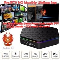 T95Z Plus Mini Tv Box Android TV Box 2018 join HaoSiHD Fire iptv Lifetime free Smart tv Box Media Player Receive 2900 channels