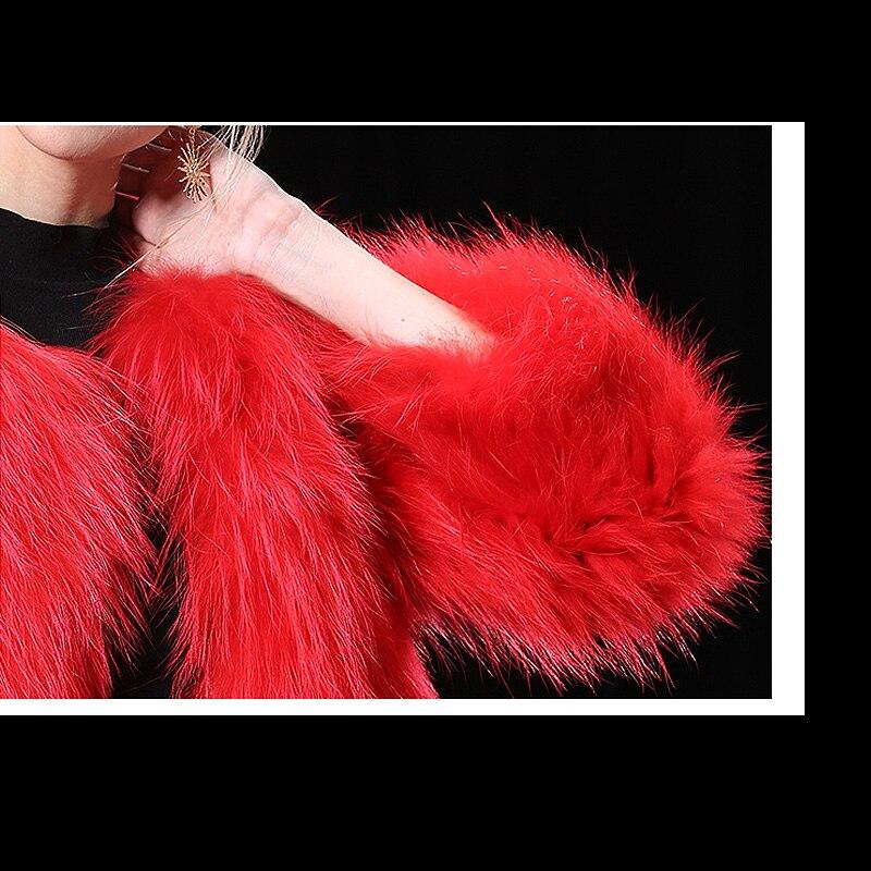 Vestes D'hiver Qualité Manteaux Streetwear Naturel Lavande Fourrure Moelleux Manteau Réel De 289c Renard Pourpre Haute Véritable Casual rouge Rouge Femmes Épaissir 7SvnWqq