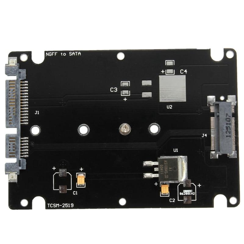 Converter Adapter Case B Key Socket 2 M.2 NGFF (SATA) SSD to 2.5 SATA Adapter Card Adapter with Black Case