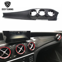 Interior Dashboard Trim For Mercedes CLA Class W117 CLA180 200 250 Carbon Fiber GLA Upgrade Centre Console Air Vent Surround LHD