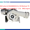 Engine turbo charger kit K04turbocharger supercharger 53049880032 for VW T5 Multivan Tranporter Caravelle 2.5L AXD diesel engine