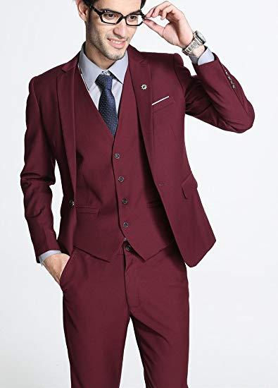 Terno Rojo As 3 Novios De Traje Trajes Boda chaqueta Chaleco Hombre Photo  Same Masculino Slim Pantalones Los Hombres Fit Vestido ... 071d9c3fb07