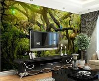 custom 3d wallpaper Forest Animals Landscape Art Mural photo 3d wallpaper room modern wallpaper