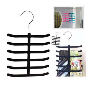 12 Tie Belt Towel Velvet Flocked Non-Slip Scarf Shawl Tie Belt Clothes Hanger Racks Holders