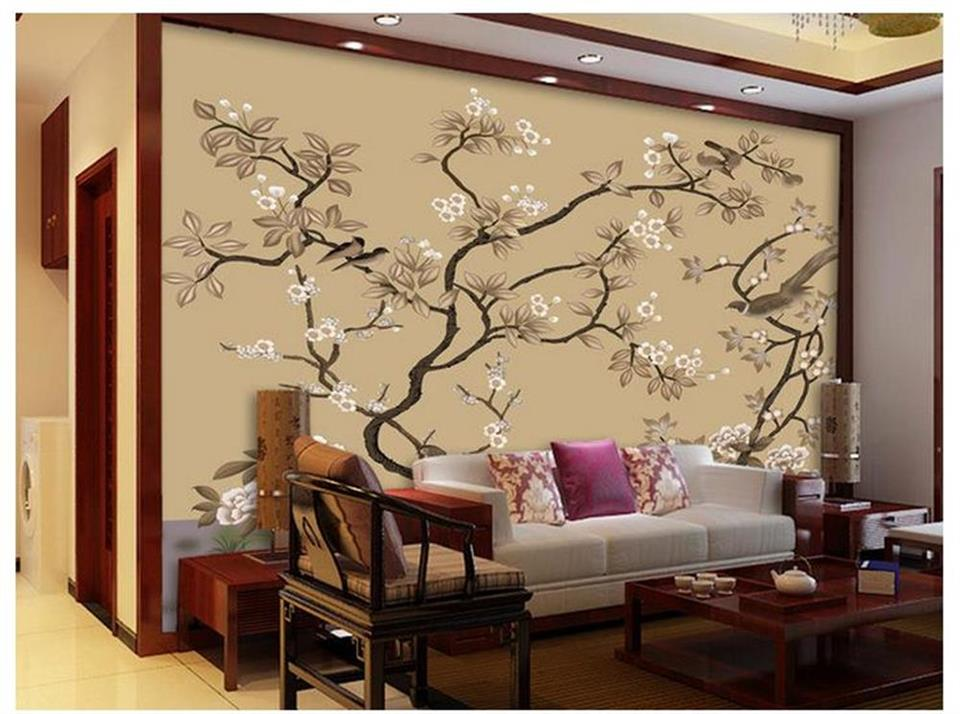 3d photo wallpaper custom room mural hand-painted flowers and birds 3d painting sofa TV background wall non-woven wall sticker 3d room photo wallpaper custom mural moth orchid 3d photo painting room sofa tv background wall wallpaper non woven wall sticker