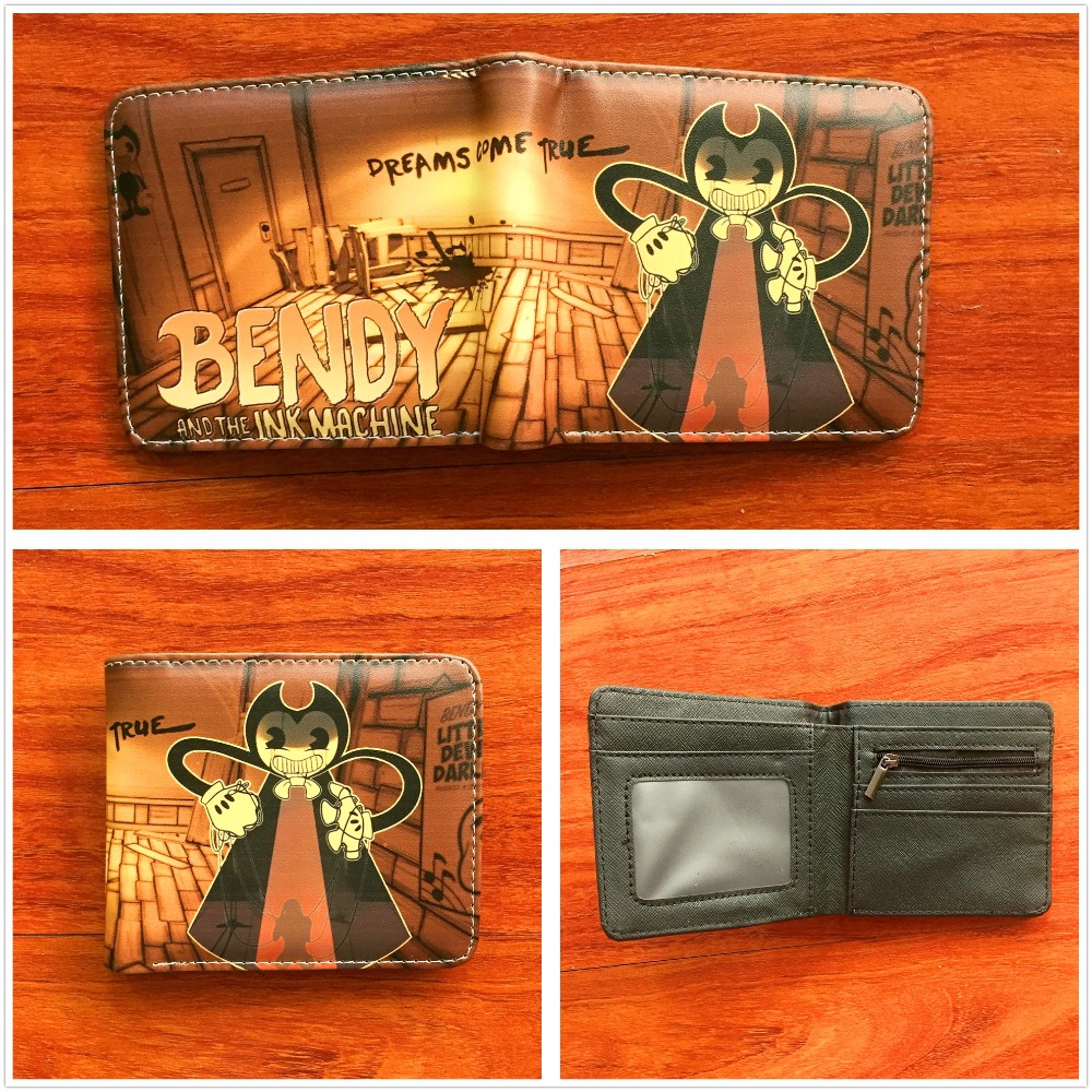 Anime cartoon wallet Bendy and the Ink Machine short leather credit card holder wallet boys and girls universal wallet W742 lavleen kaur and narinder deep singh evaluating kissan credit card scheme in punjab india
