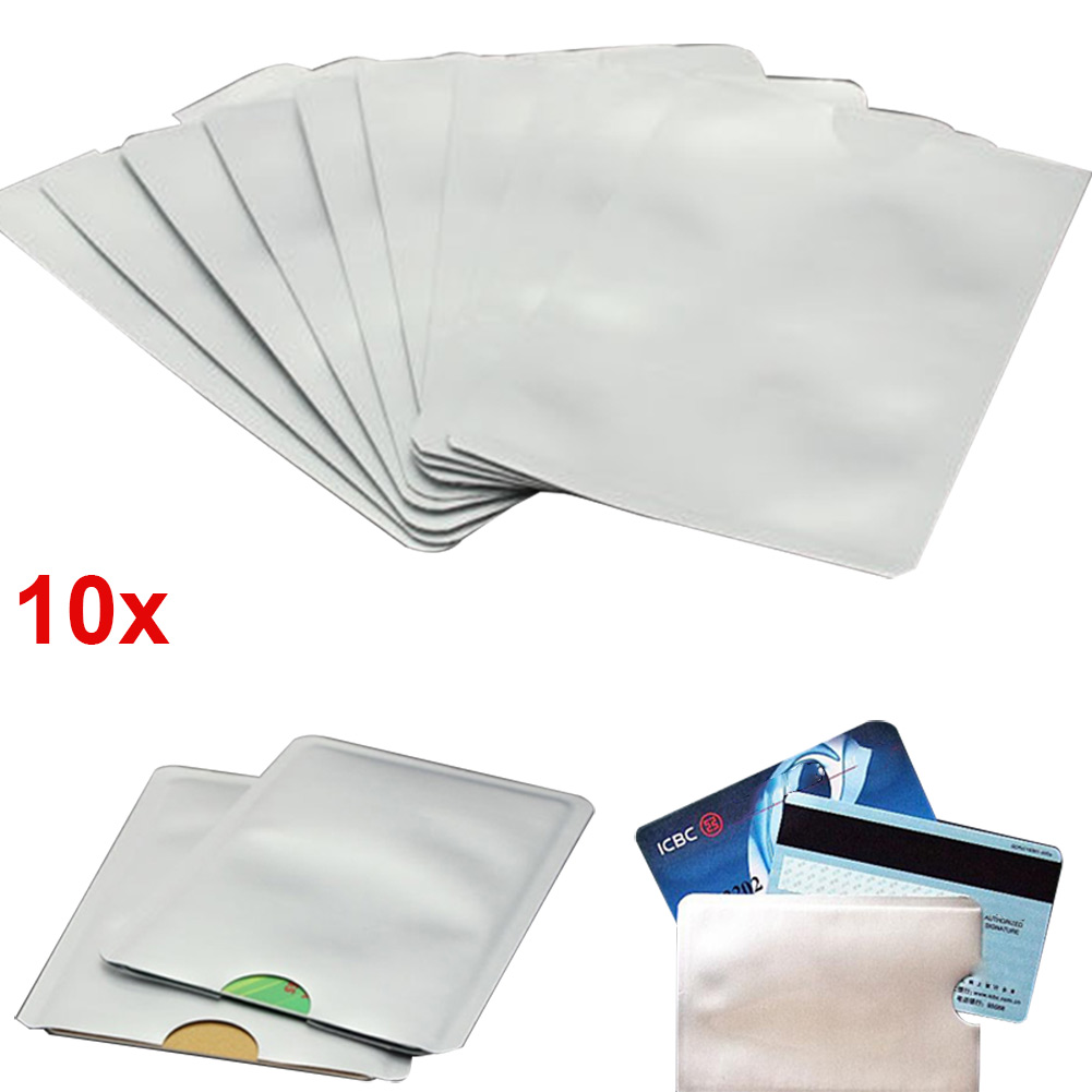 10pcs Credit Card Protector Secure Sleeves RFID Blocking ID Holder Foil Shield -MX8