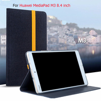 For Huawei MediaPad M3 BTV W09 BTV DL09 8 4 Inch Tablet Silicon Cloth PU Leather