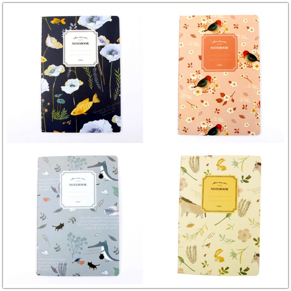 A5 32 Pages Planner Nature Animal Plant Notebook Notepad Diary Journal Office School Gift For Kids Student cute nature animal plant a5 notebook 32 page notepad diary journal office school supplies free shipping