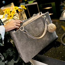 Nubuck Faux Leather Top-Handle Bag