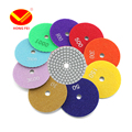 1 Piece 4'' Grits30#-3000# Flexible Diamond Wet Polishing Pads For Granite Marble Glass Artificial Stone Processing Dia100mm