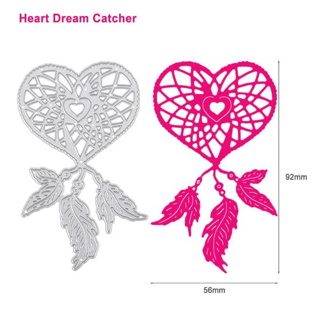 Heart Dream Catcher Pattern Cutting Dies Stencil For Scrapbooking Impressive Dream Catcher Design Patterns